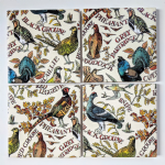 4 Ceramic Coasters in Emma Bridgewater Game Birds